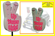 "Novalty gadget ""Up Yours Ugly"" Car aerial antenna topper ball includes UK P&P"