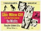 """"""" THE MISFITS"""" GABLE.. MONROE Classic Movie Poster A1 A2 A3 A4Sizes"""