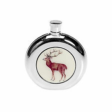 STAG DEER FLASK 5oz STAINLESS STEEL HUNTING COUNTRY SPORTS GIFT BOXED SCREW TOP