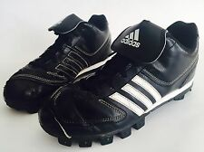 ADIDAS Boys Black/White Leather Cleats Athletic Soccer Shoes Sneakers Kids