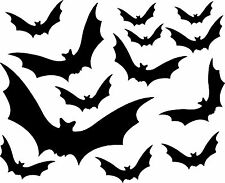 BLACK BATS HALLOWEEN STICKER VINYL DECAL ART GOTHIC WINDOW WALL SPOOKY ANY ROOM