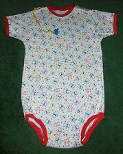 """Adult baby ONESIE STYLE BODYSUIT PRIMARY COLOR TEDDY BEARS  38"""" CHEST"""