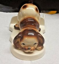 Rare Vintage Dog Toilet Paper Holder Heavy Collectible Display