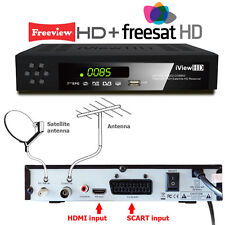 Twin Tuner Freeview HD + Satellite Receiver +RECORDER DIGITAL TV SetTop Digi Box