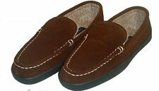 "Mens Club Room ""Cone"" Hardsole Slippers Root Beer Size Medium 9/10 New In Box"