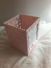 Pretty Pink Shabby Chic Photo Pen Holder