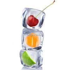 Kühlschrankmagnet deko Eiswürfel und früchte 60x90cm ref 6242 6242