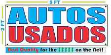 AUTOS USADOS Full Color Banner Sign NEW XXL Size Best Quality for the $ CAR LOT
