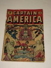 Captain America Comics #35 Golden Age Timely  low grade 1944 Torture cover