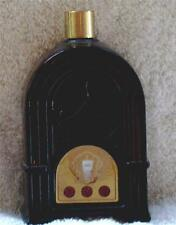 VTG AVON Decanter Bottle RADIO Dark Amber Glass Paper Dial Gold Cap 1972-73 #39