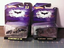 Hot Wheels 1:50 BATMAN Batmobile & Bat-Pod lot x2 Dark Knight  Movie