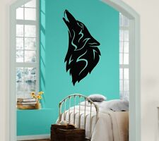 Wall Stickers Vinyl Decal Moon Wolf Howl Animal Werewolf ig259