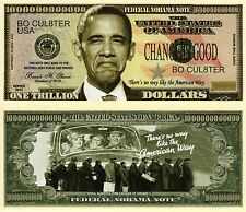 No Obama Trillion Dollar Federal NoObama Novelty Money