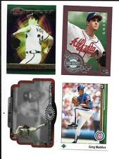 GREG MADDUX  NICE (4) CARD PREMIUM LOT  SEE LIST & SCAN   FREE COMBINED SHIPPING