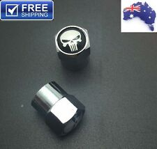 Skull #1 Tire Valve Caps High Quality Motorbike Bike Cruiser Bobber Harley