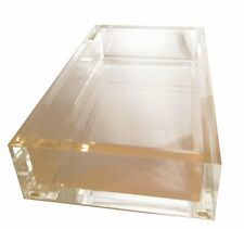 Guest Towel Holder Tray for Paper Guest Towels Acrylic Brand New by Caspari
