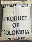 100% certifified ORGANIC Colombian FTO Huila Unroasted Green Coffee Beans