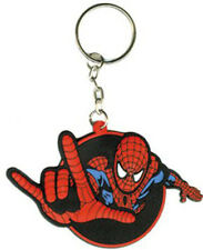 SPIDERMAN - Rubber Spidey - KEYCHAIN - NEW