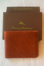 New TOMMY BAHAMA Brown Leather Slimfold Card Case/Wallet