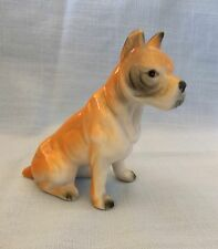 "Vintage Ceramic, Porcelain Sitting Boxer Dog Figurine 3 1/4"" High"