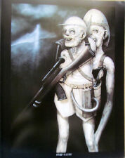 H R Giger  Poster Print Zombies on Safari or Nuclear Children  Unsigned
