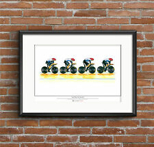 Team GB Men's Cycling Pursuit Team, London 2012 Olympics ART POSTER A2 size