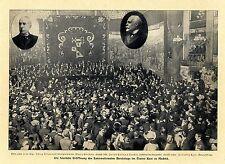 Feierliche Eröffnung des Intern.Aerztetages im Teatro Real zu Madrid 1903