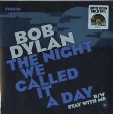 "BOB DYLAN THE NIGHT WE CALLED IT A DAY VINILE 7"" BLU RECORD STORE DAY 2015 NUOVO"