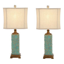 Urban Designs Carmel Seafoam Handcrafted Table Lamp - Set of 2