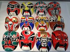 Chinese Opera Face Masks Masquerade Oriental New Year Fancy Dress Colours