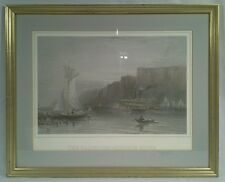 """THE PALISADES - HUDSON RIVER"" ANTIQUE ENGRAVING"