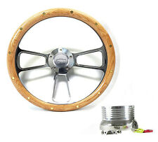 1948 -1959  Chevy Pick Up Trucks  Oak Wood & Chrome Steering Wheel Full Kit!