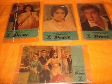 4 Old Vintage Bollywood Movie's Advertisement Post Cards from India 1967
