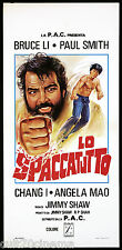 LO SPACCATUTTO LOCANDINA CINEMA FILM 1973 RETURN OF THE TIGER PLAYBILL POSTER