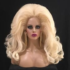 Big Teased and Lots of Volume Customized Blonde Drag Wig - Wigs By Manny