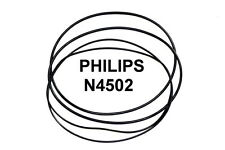 COURROIES SET PHILIPS N4502 MAGNETOPHONE A BANDE EXTRA FORT NEUF FABRIQUE N 4502