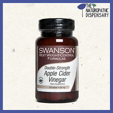 Swanson. DOUBLE STRENGTH APPLE CIDER VINEGAR. 120 TABLETS 200 mg (