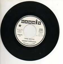 GEORGIE CARMICHAEL 45 RPM Promo Record SWEET RVIVAL / REACH OUT GIVE.. Soul MINT