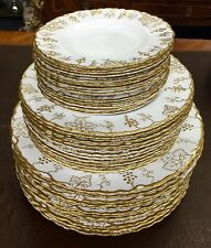 Royal Crown Derby Vine White Gold A775 Scalloped 16 Bread Plates Great Extras