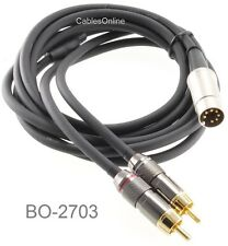 3ft 7-Pin Din Plug to 2RCA Plugs Premium Grade Audio Cable for Bang & Olufsen