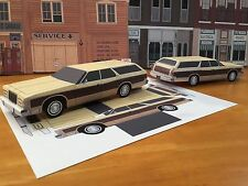 Papercraft Ford Country Squire wagon PaperCar E Z U-build 1975-1978 ToyModelCar