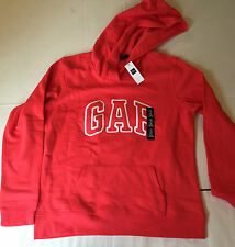 NWT Women's GAP Cotton Blend LS Pink Solid Hoodie Sweatshirt Size M