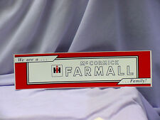 INTERNATIONAL HARVESTER - FARMALL FAMILY BUMPER STICKER
