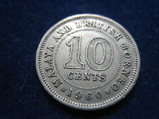 "MDS Malaya and British Borneo 10 CENTESIMI 1960 ""Queen Elizabeth the second"""