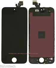 LCD DISPLAY RETINA PER IPHONE 5 NERO ORIGINALE APPLE TOUCH SCREEN VETRO TESTATI