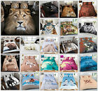 3D Duvet Cover Set Animal Print Quilt Cover With Pillow Cases Single Doubl King
