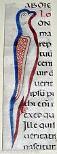 c1050 AD/11th Century ILLUMINATED Miniature MANUSCRIPT Vellum ANCIENT Religious