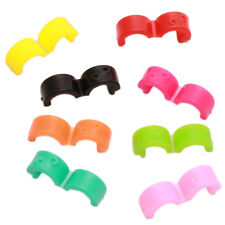 100pcs Assorted Colorful Plastic Circular Ring Hair Barrettes Hair Clip Crafts D