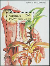 LAOS Bloc N°132 ** Bf plantes insectivores 1995, Insect Eating Plants SC#1242 NH