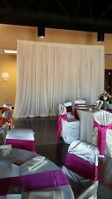 1 Wedding back drop drape- 1 layer- ivory - party Decoration